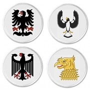 "Set 4 Tribal Eagles 3"" Sew On Patches Stylized Eagle Piping Shrike"