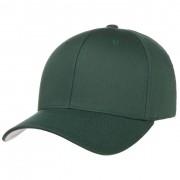 Cappellishop Spandex Flexfit Cap in verde scuro, Gr. S/M (54-57 cm)
