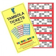 BINGO - JUMBO TAMBOLA TICKETS FOR - BIRTHDAY PARTIES - HOUSE PARTIES - KITTY PARTIES ( SET OF 5 BOOKS - 3000 )