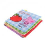 Alcoa Prime Cloth Book Infant Kids Baby Cognize Books Fruit Intelligence Development Toy