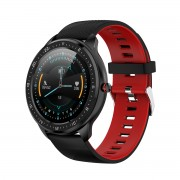 LEMONDA Z06 1.3'' Full Touch HD Round Screen Heart Rate Monitoring Waterproof Smart Watch - Red