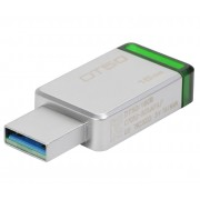 Stick de memorie Kingston DataTraveler 50 16GB USB 3.0 gri metal + verde
