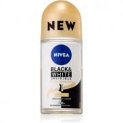 Nivea Invisible Black & White Silky Smooth deodorant roll-on antiperspirant fară alcool 50 ml