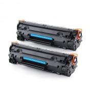 Printflow Compatível: Pack 2 Toners Hp 85A preto (ce285a)