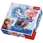 Trefl Puzzle Slagalica 3u1 Frozen Land Heros (34810)