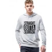 Hanorac Barbati Gri - Straight Outta Slobozia