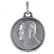 medaglia religiosa in argento papa giovanni paolo ii 18 mm