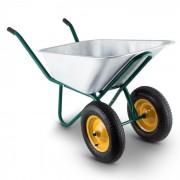 Heavyload Carrinho de Mão 120l 320kg 2 Rodas Aço Inox Verde