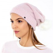 Gorro Katze Pompom Pele Rosa