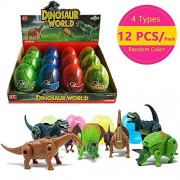12 Pcs Different Hatching Eggs Dinosaur Toys for 3+ Year Old Kids,Magic Egg that Hatch Dinosaurs Toy for Boy Girl Dino Fans,Deformation T-rex,Pterosaurs,Brachiosaurus,Triceratops (1 Pack)