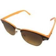 Devizer Optics Retro Square Sunglasses(Brown)