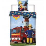 Sam a tűzoltó ovis ágynemű kék színben