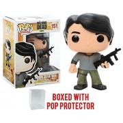 Funko Pop Tv: The Walking Dead - Prison Glenn Rhee #151 Vinyl Figure (Bundled with Box Protector Case)