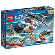 LEGO City kocke Heavy-duty Rescue Helicopter - Obalska straža: Spasilački helikopter 415 delova 60166