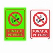 Semn de Informare Fosforescent Fumatul Interzis 20 x15 cm