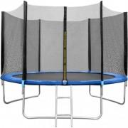 Set trambulina 244 cm cu plasa si scarita In One