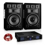 "Conjunto PA Saphir Series ""Warm Up Party"" 12PLUS Dois Altifalantes e Amplificador 700W"