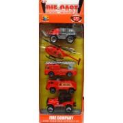 Autó szett 5db Tüzoltó Fire Company No.85001A
