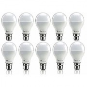 Syska 9W LED Bulb Cool Day Light - Pack of 9