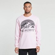 St Moritz Supersoft Classic Long Sleeve Tee Pink
