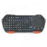 Seenda IS11-BT05 Mini Bluetooth V3.0 teclado de 77 teclas con Touchpad - naranja + negro