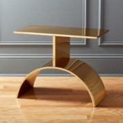 Curve Gold Side Table by CB2