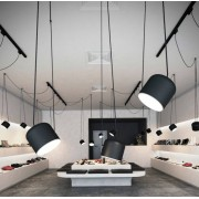 Paco lampara colgante metal blanco o negro mate 3 luces