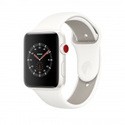 Умные часы Apple Watch Edition Series 3 38mm with Sport Band Cellular Ceramic MQM32 White/Pebble (Белый)