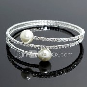 Zilver / Imitatieparel Dames Streng / Tennis / Ronde Armbanden Armbanden Imitatie Parel