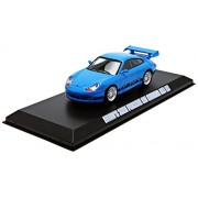"""Brians 2001 Porsche 911 Carrera Gt3 RS Blue """"The Fast and The Furious Fast Five"""" Movie (2011) 1/43 b"""