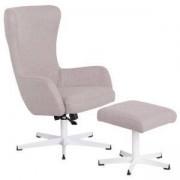 Комплект кресло с табуретка LEXI, Светлосив, 3550907