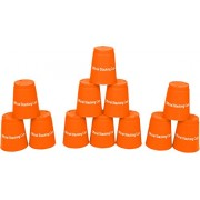 Quick Stack Cups Speed Training Sports Stacking Cups Set Of 12 By Trademark Innovations (Orange)