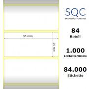 Etichette SQC - Carta termica protetta (bobina), formato 55 x 25