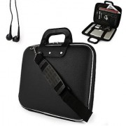 Uniquely designed SumacLife Brand Black Ultra Durable Reinforced 13 Inch Cady Hard Shell Sports Bag for all models of the HP Pavilion 14 Inch Laptop (windows 8 14-b010us sleekbook hp pavilion laptops black) + Earphones