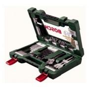"""Bosch Set Avvitamento E Foratura Titanium """" V-Line"""" 83 Pezzi Con Torcia Tascabile A Led E Chiave A Rullino"""