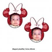 Magnet Minnie Cu Fundita Alba