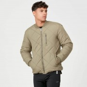 Myprotein Pro-Tech Quilted Bomber Jacket - Light Olive - XL