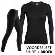 Icebreaker voordeelset Bodyfit 260 shirt en broek dames