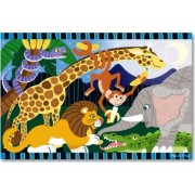 Puzzle de podea Safari Social Melissa and Doug