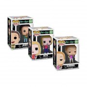 Set 3 Piezas Funko Pop Beth , Jerry Y Summer De La Caricatura Rick And Morty Animation Original