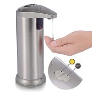 Yvonne Premium Automatic Soap Dispenser Hands Free Touchless Stainless Steel Motion Sensor Liquid Dish Soap Dispenser Water Resistant Base for Kitchen and Bathroom