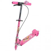 Kids Scooter Wheeler Foldable Height Adjustable Scooter with Break & Bell (Pink)