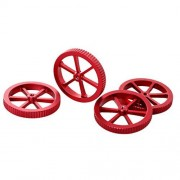 iplusmile 4Pcs Accesorios para Impresoras 3D Plataforma de Cama Caliente Tuerca de Nivelación de Giro de Mano Grande para Plataforma de Impresora 3D (Rojo)