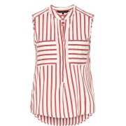 Vero Moda Bluză pentru femei Erika S/L Stripe Shirt Color Snow White/Red XS