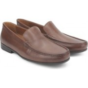 Clarks Claude Plain Brown Leather Formal For Men(Brown)
