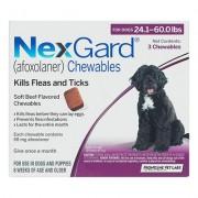 Nexgard Chewables For Large Dogs 24.1-60 Lbs (Purple) 68mg 6 Chews