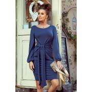 MyButik.pl Jenny Wygodna Sukienka Z Wiązaniem W Pasie Jeans S/M/L/XL