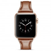 Apple Watch Series 5/4/3/2/1 Slim Leather Strap - 40mm, 38mm - Coffee