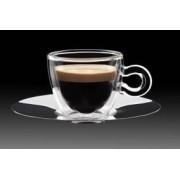 Luigi Bormioli Thermic Glass espresso csésze 6,5 cl + rozsdamentes alj, 2 db