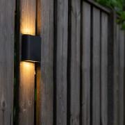 QAZQA Modern Wall Lamp 11.5cm Anthracite IP65 incl.LED - Batt